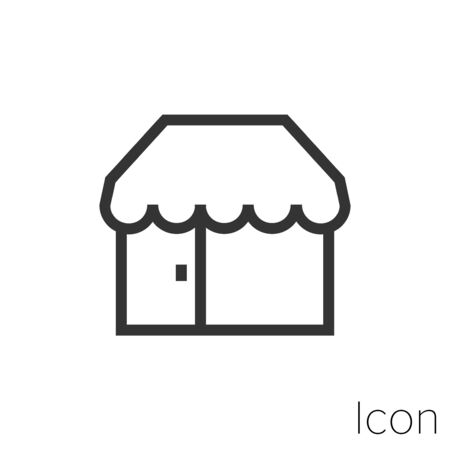 Icon store shop in black and white Illustration.