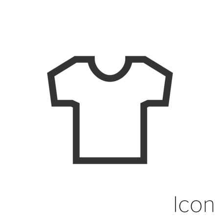 Icon Tshirt in black and white Illustration.