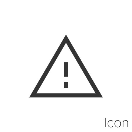 Icon warning sign in black and white Illustration.