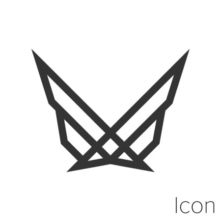 Icon award in black and white Illustration.