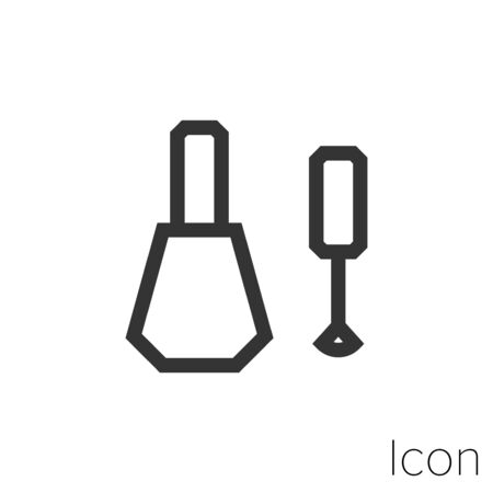 Icon nail polish in black and white Illustration.