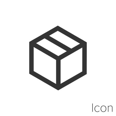 Icon package in black and white Illustration.