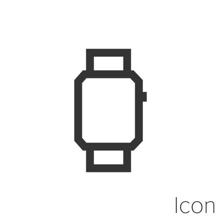 Icon Smart watch in black and white Illustration.