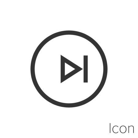 play next icon outline in vector. Stock Illustratie