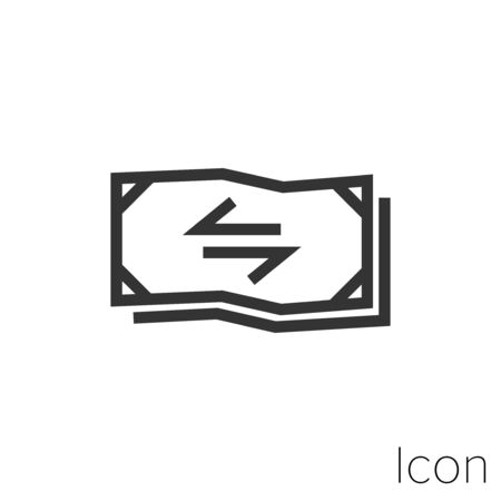 cash transactions icon outline in vector.