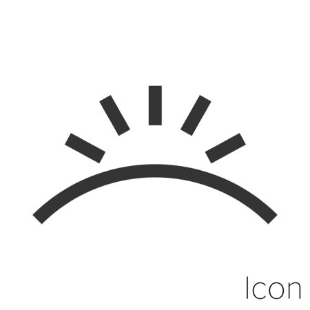 dawn icon outline in vector.