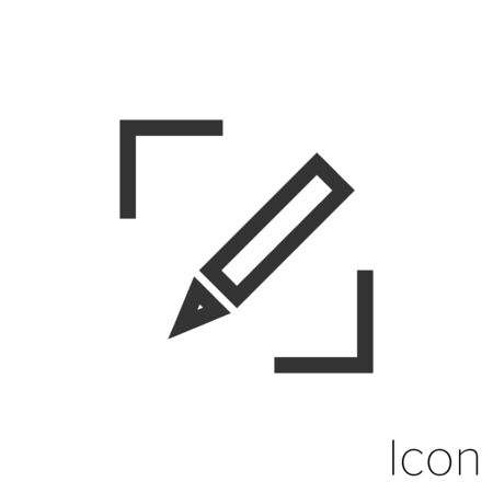 edit file icon outline in vector.
