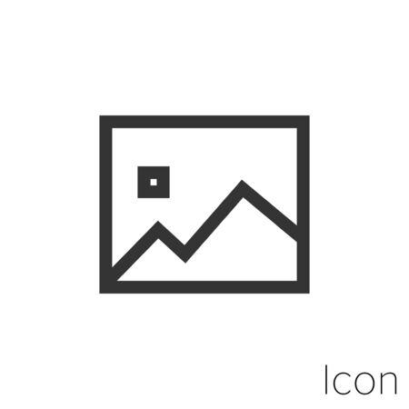 image icon outline in vector. Stock Illustratie