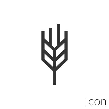 Wheat spike icon outline in vector. Иллюстрация