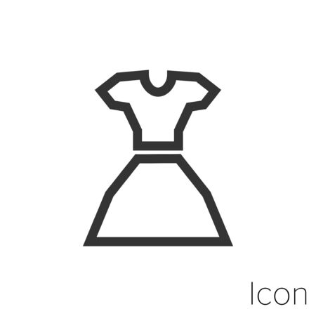 blouse and skirt icon outline in vector.