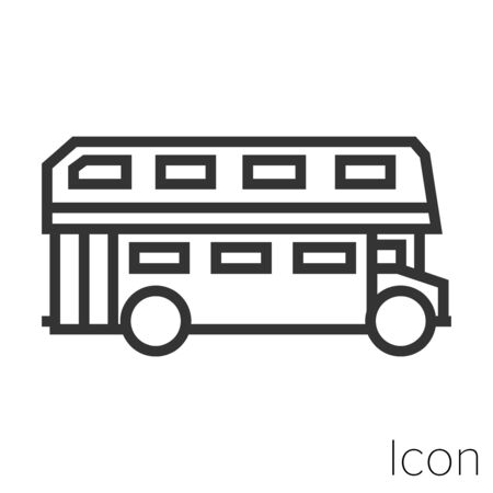 English bus icon outline in vector. Stock Illustratie