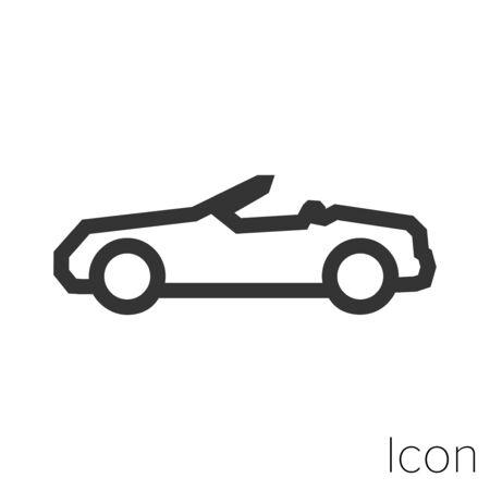convertible car icon outline in vector. Stock Illustratie