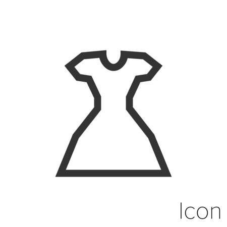 dress icon outline in vector.