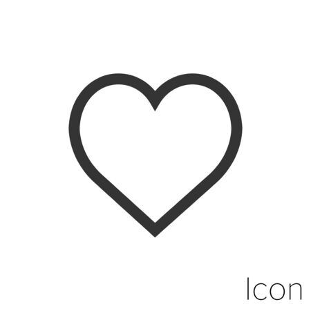 heart icon outline in vector.