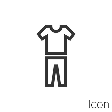 shirt and pants icon outline in vector.
