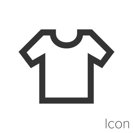 shirt icon outline in vector.
