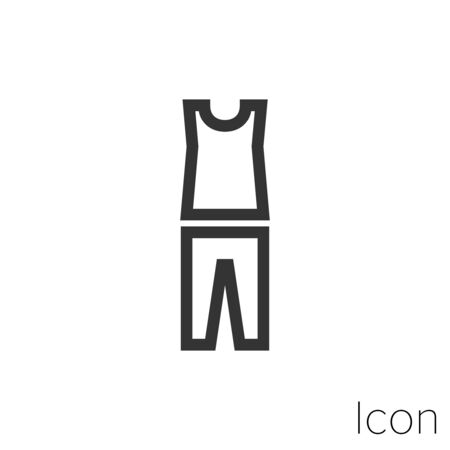 tank top and pants icon outline in vector. Illusztráció