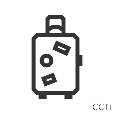 travel suitcase icon outline in vector.