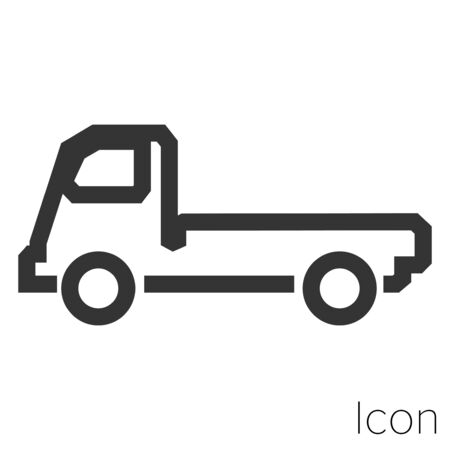 Truck tractor icon outline in vector.