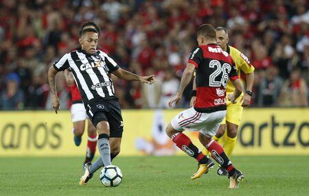 RIO DE JANEIRO, BRAZIL - AUGUST 23: Match between Flamengo and Botafogo of Brazil Cup Semi-Finals 2017 at Maracana Stadium on August 23, 2017 in Rio de Janeiro, Brazil