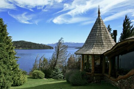 living in front of Nahuel Huapi Lake in Bariloche, Argentina photo