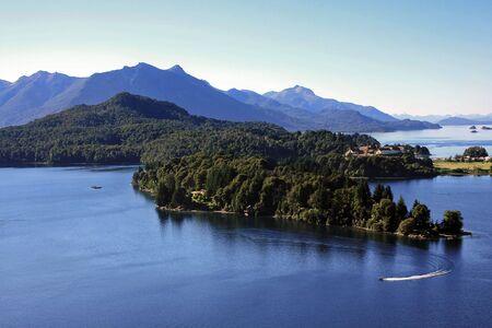 nahuel huapi: Lake Nahuel Huapi in Bariloche during the summer