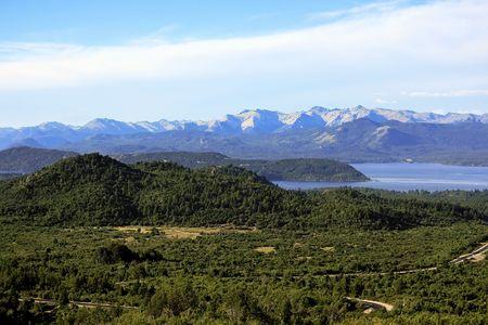 mount tronador: San Carlos de Bariloche and Nahuel Huapi Lake