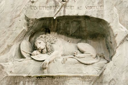 the Lion of Lucern in Switzerland Stock Photo - 3857330