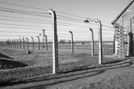 cracow: The concentration camp of Birkenau near Cracow in Poland