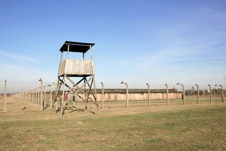 The concentration camp of Birkenau near Cracow in Poland Stock Photo - 3875395