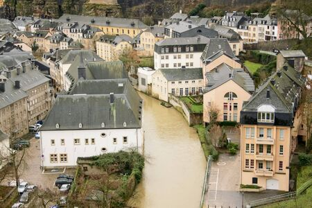 palais: old town of Luxembourg in the heart of western Europe