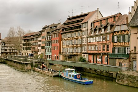 alsace: the capital of Alsace in France, border with Germany, Strasbourg