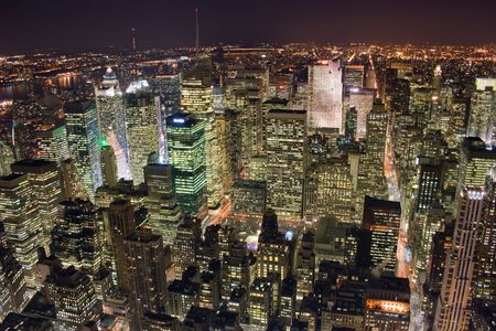 Picture of the office buildings in New York City, Manhattan photo