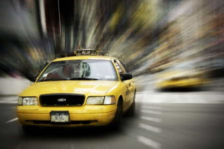 a yellow taxi: Yellow Taxi in New York City