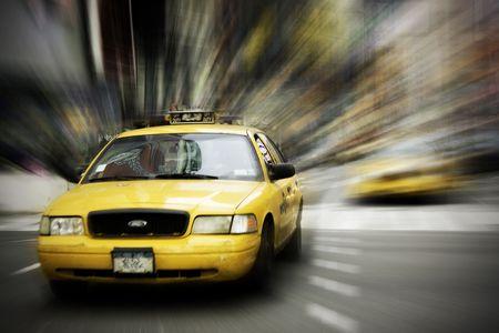 taxi: Taxi amarillo en la ciudad de Nueva York