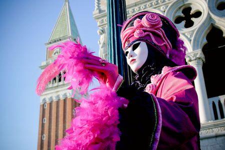 carnaval venise: Masque de Venise a brill� par sun sur une belle journ�e. Banque d'images