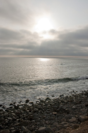Sunset in Punta Hermosa, near Lima, Peru Stock Photo - 13451972