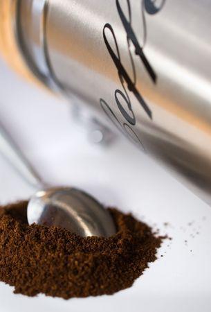 Koffie met lepel