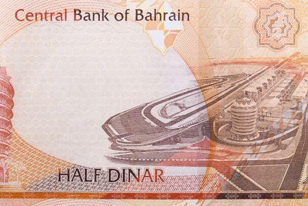 dinar: Kingdom of Bahrain currency banknotes