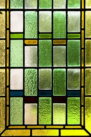 Close up of colorful stained glass