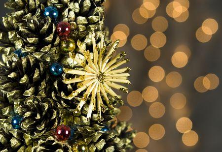 Christmas Tree Decorations Background photo