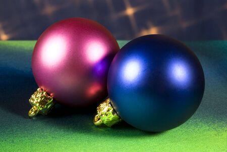 Christmas tree decoration balls photo