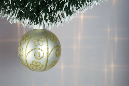 Christmas Tree Bauble with green decorative chain photo