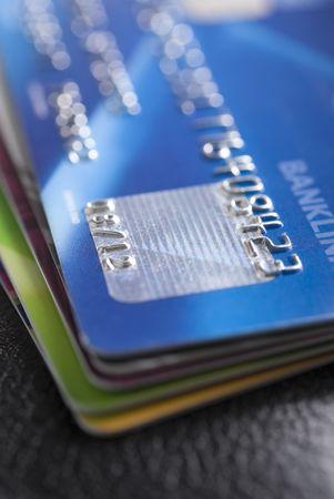 Krediet kaarten met ondiepe DOF