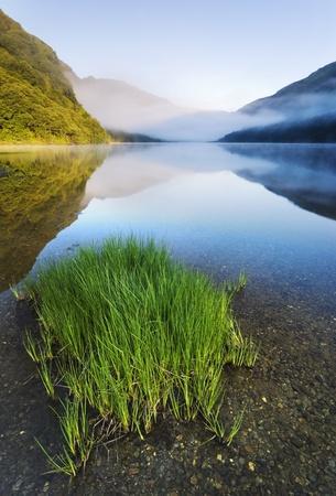 Upper lake in Glendalough Scenic Park, County Wicklow, Ireland