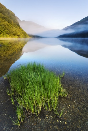 Upper lake in Glendalough Scenic Park, County Wicklow, Ireland photo