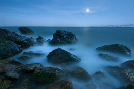 Evening at Irish Sea, Howth Peninsula, Ireland Foto de archivo