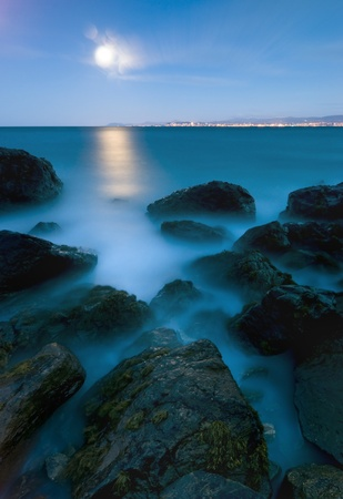 Evening at Irish Sea, Howth Peninsula, Ireland photo