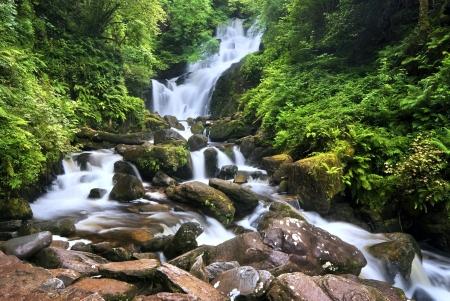 Waterfall in Killarney National Park, County Kerry, Ireland, long exposure