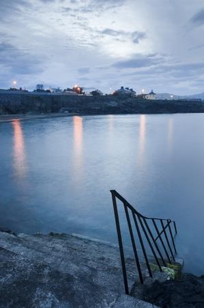 Steps to water in Greystones, Irish Sea bay, Ireland Stock Photo - 13925426